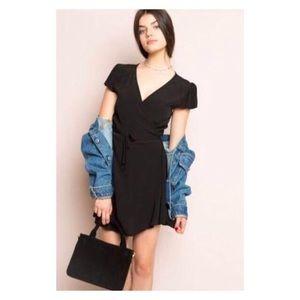 Robbie Black Wrap Dress